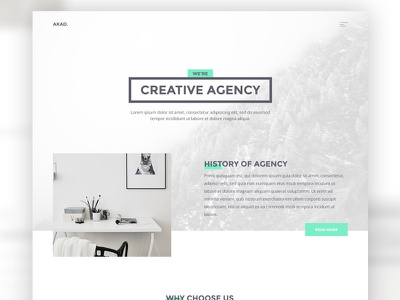 AKAD - Free PSD & HTML Template download free digital agency creative javascript css html template web light akad