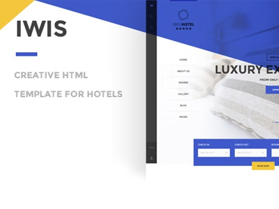 IWIS - Hotel HTML Template bootstram luxury motel room website web page themeforest html template hotel