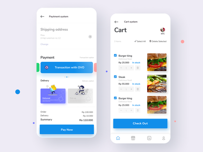 Paytment system listview product design paypal paytement system gradient color cards ui card design card uidesign ui  ux slider design slider food app cart ui payment app mobile app design cart payment mobile app