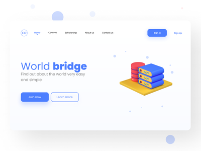 Landing Page | Online Learning Site UI. uidesign ui  ux ui homepage landing page design landingpage web webdesign one page