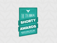 7th Annual Shorty Awards Badge Sticker