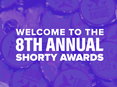 Shorty Awards UI design ui signup overlay homepage entries purple awards teal