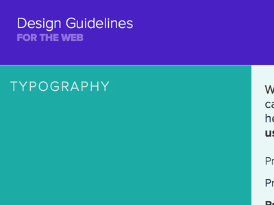 Shorty Awards Web Style Guide pattern library pink teal purple web brand styleguide