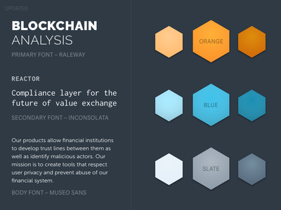 Style Tile for Chainalysis Homepage inconsolata bitcoin styleguide style tile