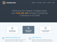 Chainalysis Homepage Design
