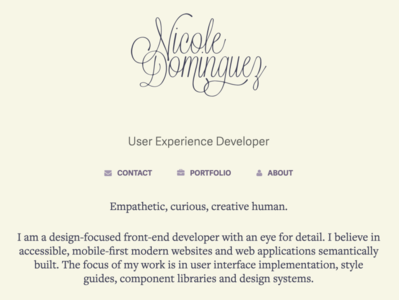 Personal Website Update front-end jekyll portfolio website web design cream beige portfolio