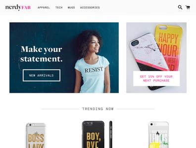 NerdyFab Shopify shopify ecommerce