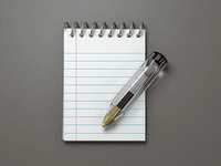 BIC paper notepad pen bic icon 3d 3d icon