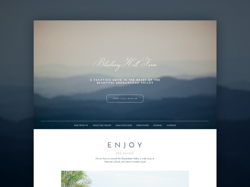 Blueberry Hill Farm Site ui web home page one page website farm