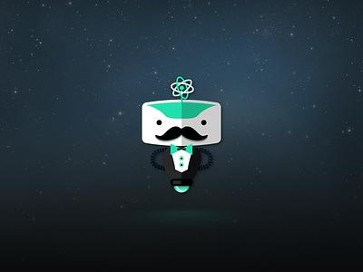IntelliButler Robot logo icon robot illustration space app application hover butler