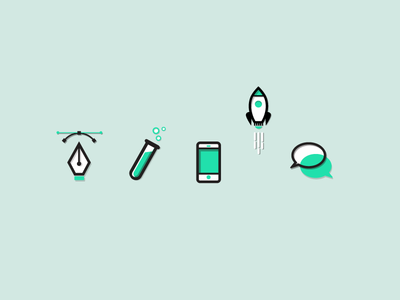 IntelliButler Icons icons intellibutler green line rocket vector design science chat launch flat