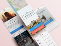 Enjoyney iOS app tour guide travel enjoyney design ui ux mobile app ios