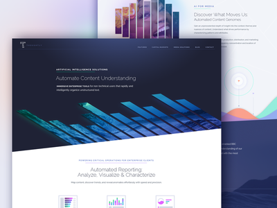 Thoughtly Landing Page visualization bar graph site marketing thoughtly machine learning artificial intelligence data ai website landing page