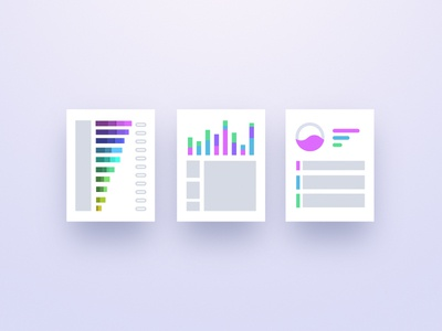 AI Product Icons product report data bar graph tiles icons ai