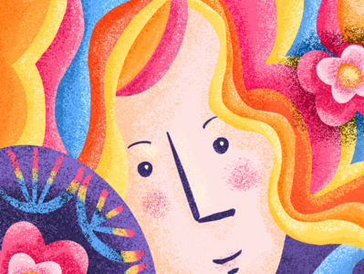 Summer Lady summer face illustration procreate