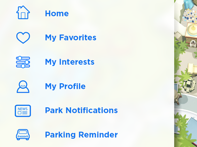 Icons for theme park app mobile app icons