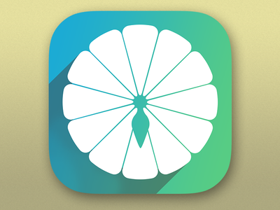 App Icon for Spinning Wheel Game ios app spinning game wheel color green blue icon