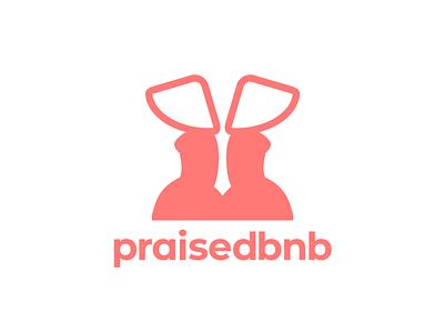 praisedbnb homage visual pun pun airbnb handmaids tale branding illustration logo