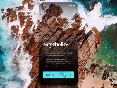 Fluid UI Animations for Seychelles mobile app