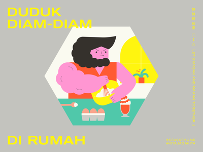 STAY AT HOME | LESSON 04: BUILD MUSCLE editorial graphic design typography minimal malaysia illustration food design cooking character design adobe illustrator