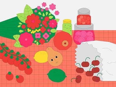 Still Live: Series 01 flower vector graphic design cooking food malaysia illustration design adobe illustrator