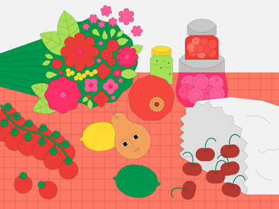Still Live: Series 01 flower vector graphic design cooking food malaysia illustration design adobe illustrator