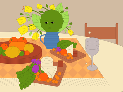Still Live: Series 02 fruit flower vector kids illustration graphic design food cooking malaysia illustration design adobe illustrator