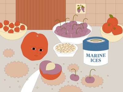 Still Live: Series 03 fruit vector kids illustration character design graphic design food malaysia cooking illustration design adobe illustrator