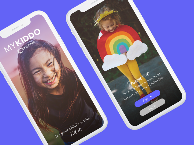 Mykiddo Lobby and Sign in signin photography ux product design android ios native app