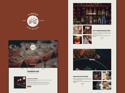 Camden Gin House responsive website