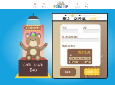 Daily UI Challenge 002 - Credit Card Checkout Screen