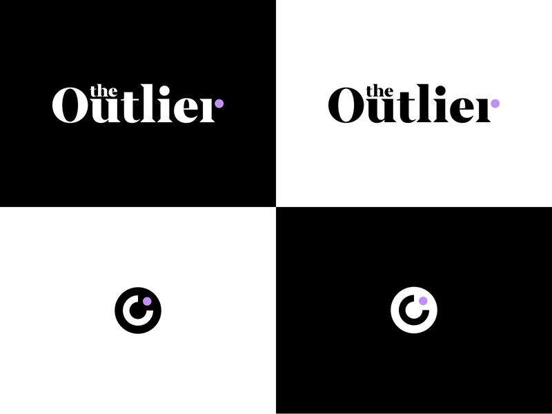The Outlier Logo mark logotype edgy type typography branding logo design brand logo