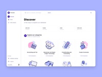 Fintechdb New Discover Page & Illustration Set