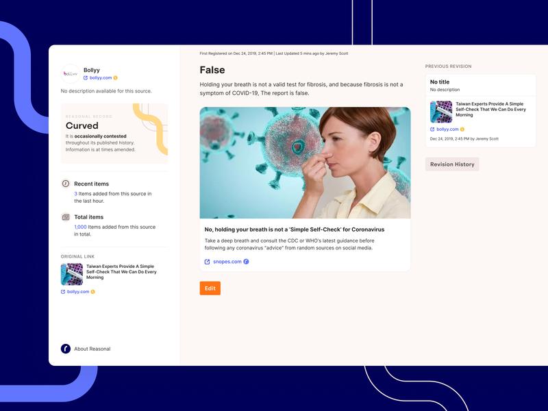 Reasonal Desktop App social news inter clean dashboard wikipedia product ux ui app desktop