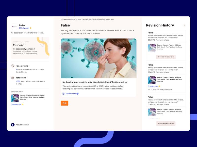Reasonal Desktop App 2 tech product wikipedia news dashboard ui ux app desktop