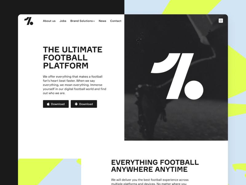 Onefootball Website neon onefootball mobile app football edgy pattern webdesign web website