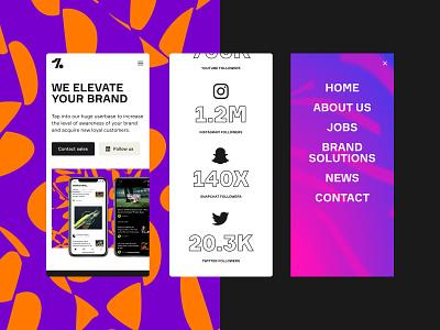 Onefootball Mobile marketing app onefootball edgy pattern responsive webdesign web mobile