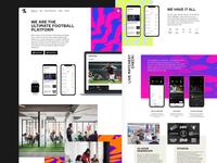 Onefootball landingpage edgy pattern desktop app onefootball webdesign website