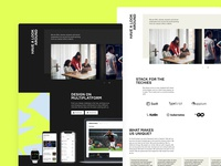 OneFootball Jobs careers desktop pattern edgy modules components webdesign jobs website