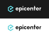 Epicenter Logo exagon logotype branding brand podcast blockchain logo