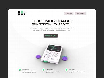 Robot Landing Page ui branding brand startup techy cyber illustration 3d webdesign web