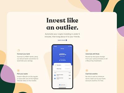 Donut bold mobile crypto serif app product ui web website