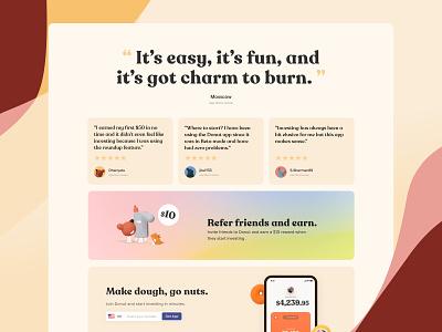 Donut website web design branding app mobile ui