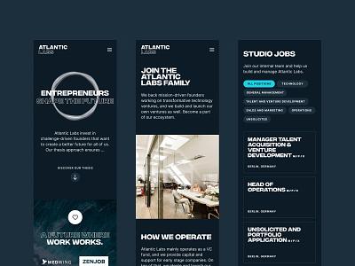 Atlantic Labs Mobile ui responsive website brand branding 3d mobile webdesign web
