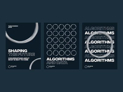 Atlantic Labs Posters design 3d typography graphics graphic design logo branding brand