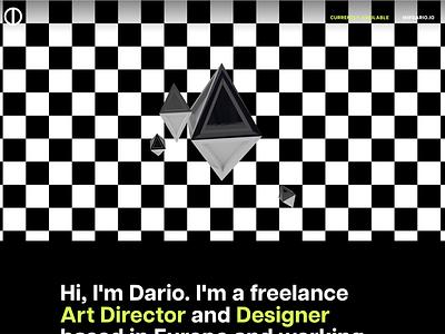 My Portfolio typography neon bold 3d freelance portfolio webdesign website
