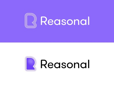 Reasonal Brand tech modern outline gradient mark typography brand logo