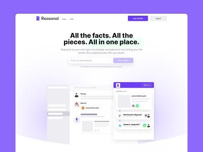Reasonal Website website brand startup tech branding responsive webdesign mobile web