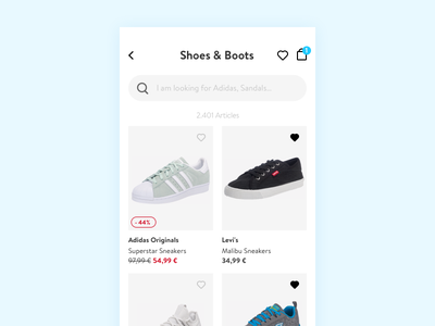 Product List Page listing plp cart shopping shop product card fashion product list ecommerce