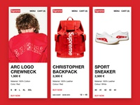 Supreme x Louis Vuitton - Mobile Product Card